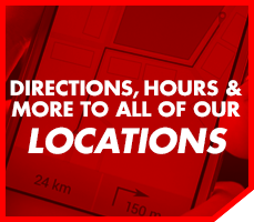 Directions, Hours & More to All of Our Locations
